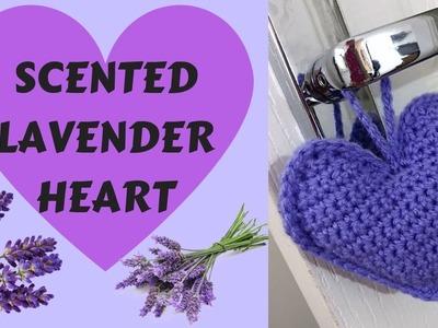 CROCHET LAVENDER HEART. EASY TUTORIAL