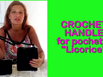 CROCHET SHOULDER STRAP FOR MINIBAG LICORICE tutorial easy Alex Crochet