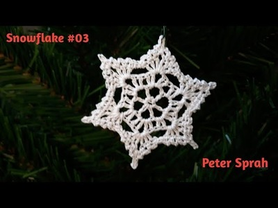 Crochet Snowflake #03  Video Tutorial