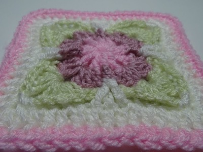 Crochet Square Tutorial - My first video in English