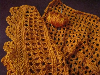 Crochet sweater design step by step. how to make crochet design step by step