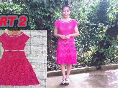 CROCHET WOMEN'S DRESS TUTORIAL TYPE 3- PART 2 | HƯỚNG DẪN MÓC VÁY: MẪU SỐ 3- PART 2