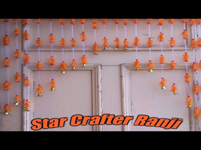 Diy Make Star With Straw Pipe Straw Samosa Jhumar Banane