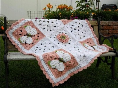 DIY.ORIGINAL CROCHET BLANKET-Manta tejida de croche