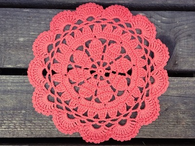Easy Crochet Coral Lace Doily Tutorial