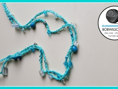 Easy crochet necklace tutorial  Kids craft