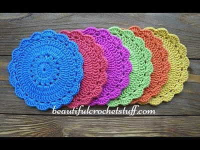 Easy Crochet Pattern for Beginers - Crochet Coaster