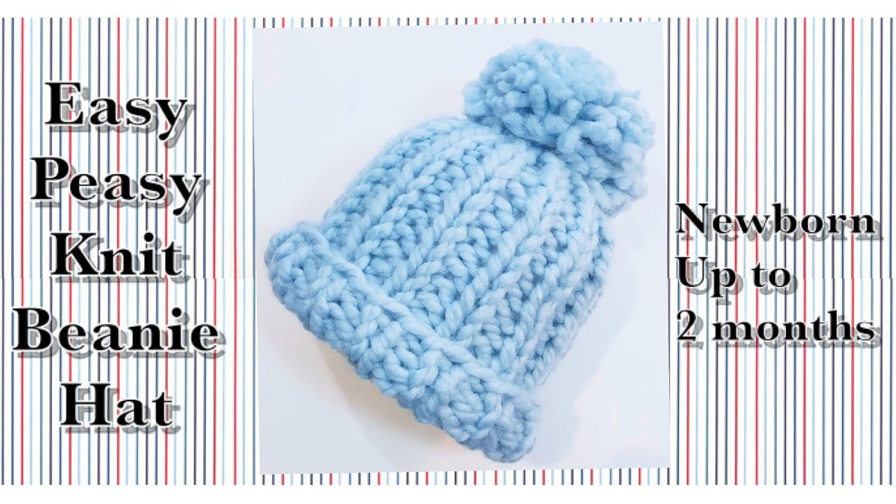 Easy peasy knit newborn baby hat for Beginners by Crochet for Baby #153