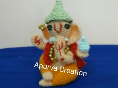 Ganesh chaturthi special.How to crochet woolen ganesh idol. in marathi.English subtitles.Part - 1