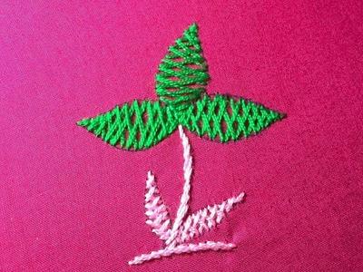 Hand Embroidery, How to make Herringbone Stitch