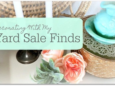 How I Used My Vintage Yard Sale Finds