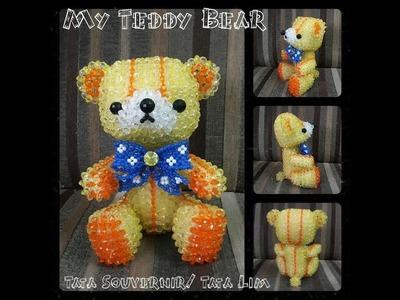 How to Bead My Teddy Bear Part 1.Beading Tutorial
