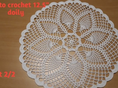 """How to crochet 12.5"""" Pineapple Doily - Part 2.2"""