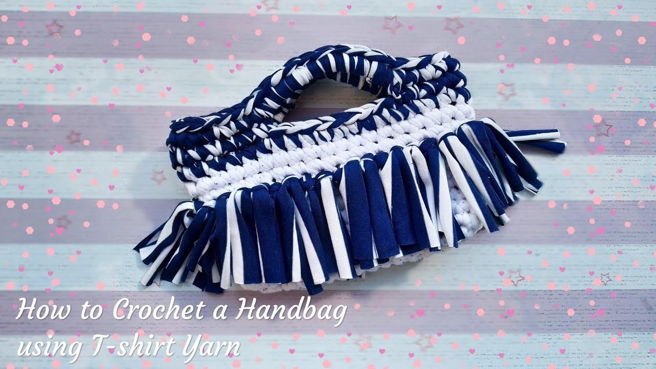 How to Crochet a Handbag using T-shirt yarn