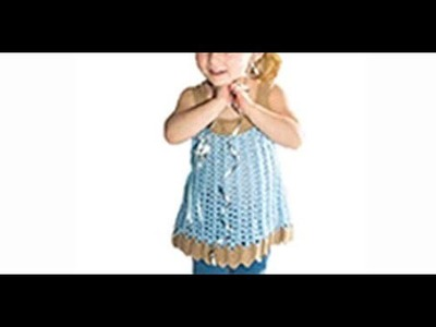 HOW TO CROCHET A LITTLE DRESS FOR A GIRL - EASY AND FAST - BY LAURA CEPEDA