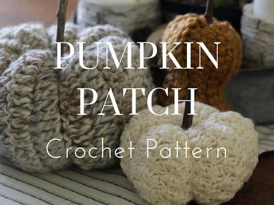How To Crochet a Pumpkin - Easy Beginners Tutorial, Farmhouse Fall Home Decor