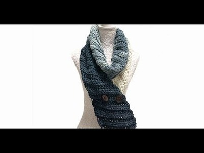 HOW TO CROCHET A SCARF  - EASY AND FAST - BY LAURA CEPEDA