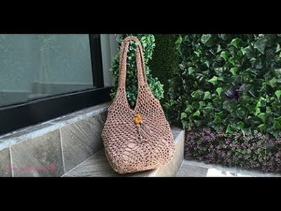 HOW TO CROCHET A SUMMER BAG  - EASY AND FAST - BY LAURA CEPEDA