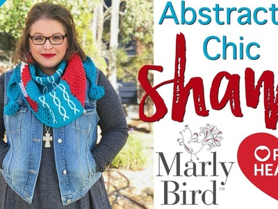 How to Crochet Abstractly Chic Shawl Week 3 [Right Handed]