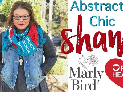 How to Crochet Abstractly Chic Shawl Week Two [Right Handed]