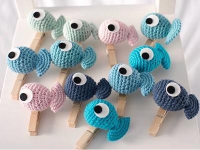 How To Crochet Amigurumi Fish Clip | Truc Nguyen Handmade.