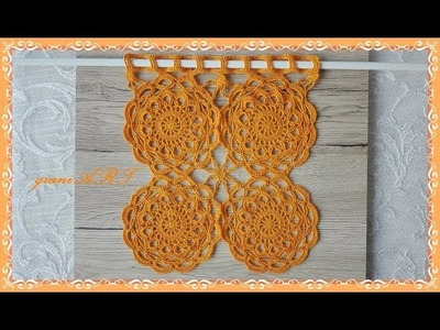 How to Crochet CURTAIN for beginners