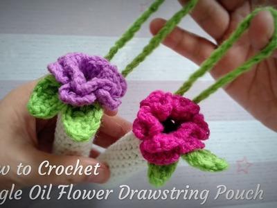 How to Crochet DoTERRA Beadlet Flower Drawstring Pouch