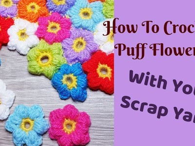 Crochet, Crochet 6-Petal Flat Flower Tutorial in hindi. crochet ...