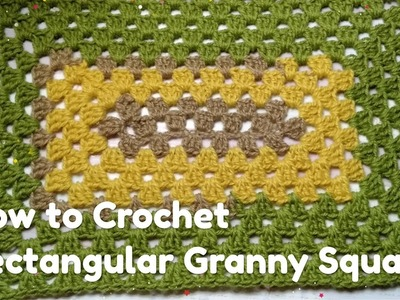 How to Crochet Rectangle Granny Square