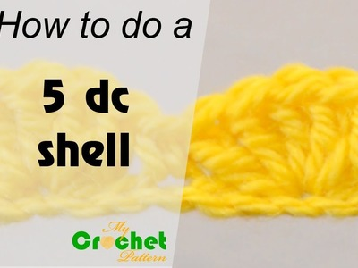 How to do a 5 double crochet shell - Crochet for beginners