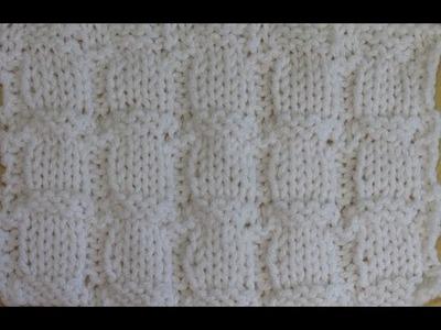 How to knit block stitch