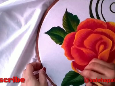 How to learn painting tutorial Bed Sheet Design      Saleha Painting   