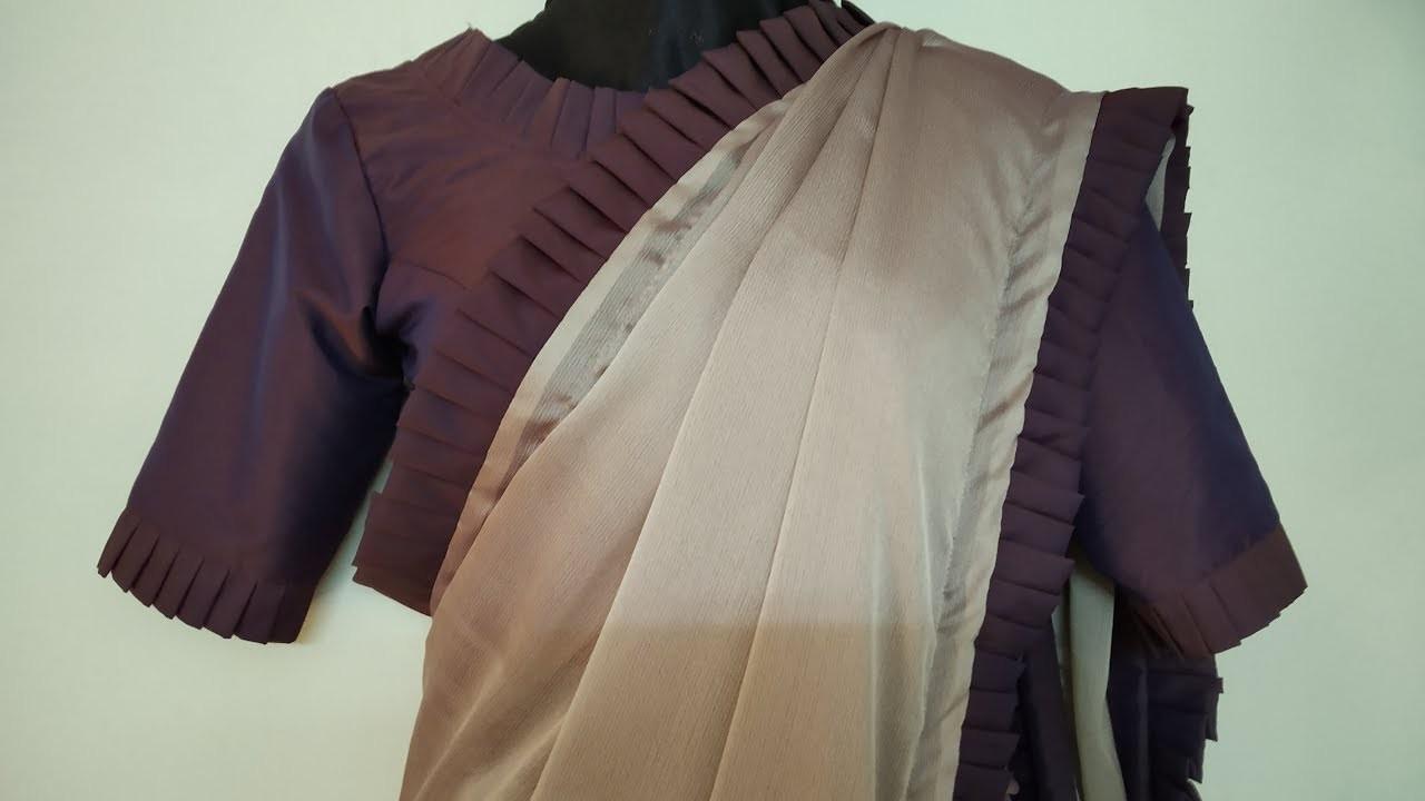 How to make a Designer Saree | Latest 2018 | Art of Clothes