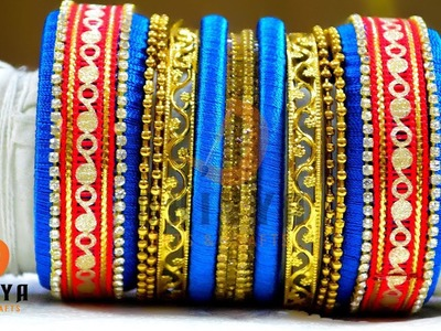 How to make bangles : for your colorful outfits | Beautiful Silk Thread Bangles | #DIY | #122