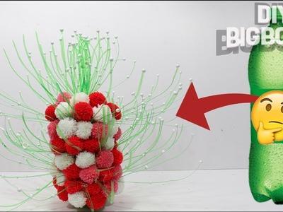How to make Flower Vase with plastic bottle | Beautiful flower vase