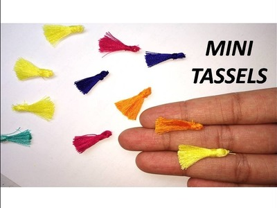 How to make mini tassels. DIY tassels at home. How to make mini tassels at home very easy