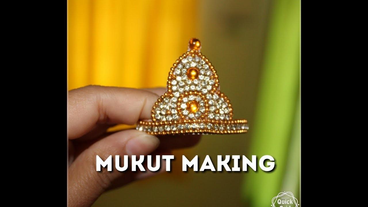How to Make Mukut.Crown.लडडू गोपाल जी का मुकुट कैसे बनाए