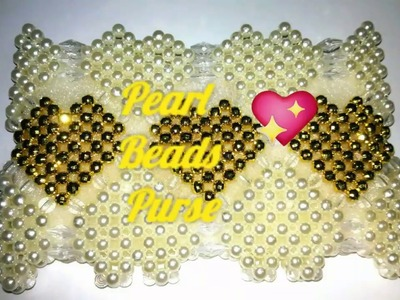 How to make Pearl Beads.Crystal beads ???? purse .???????? |  Nomi.Namita's crafts