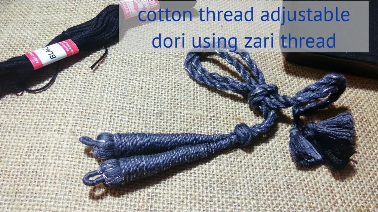 How to make perfect cotton necklace rope using zari thread    periwinkle TV