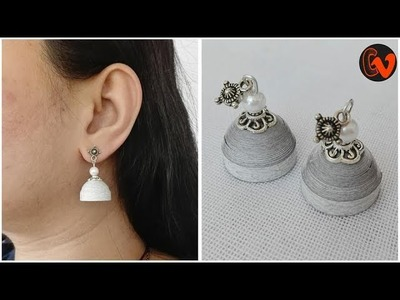 How to make Quilling jhumka tutorial. Quilling Earrings Tutorial