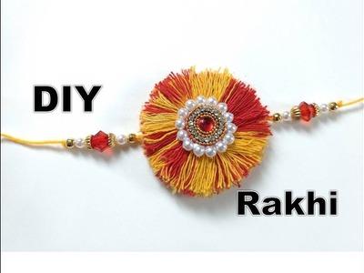 How to make Rakhi at home | Easy Rakhi Making Design | Moli rakhi making | Latest rakhi design 2018