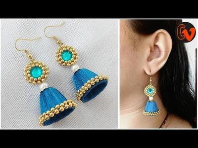 How to make Silk thread earrings tutorial.  Silk Thread Jewellery Making