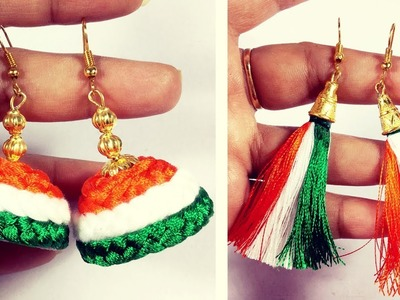 How to make Silk Thread Tassel Earrings step by step |  Independence Day Special | Hairstyles