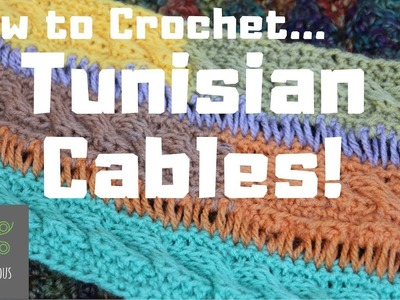 How to Tunisian Crochet Cables   Clear Tutorial!   TuTu Ep 55