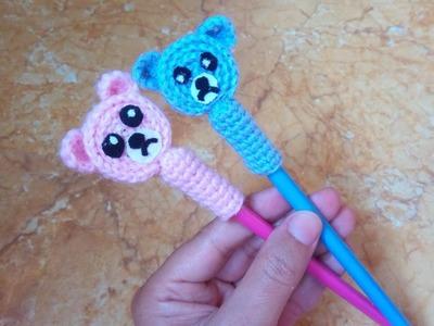 كروشيه غطاء قلم. كروشيه عروسة. crochet pencil holder. crochet pencil cover