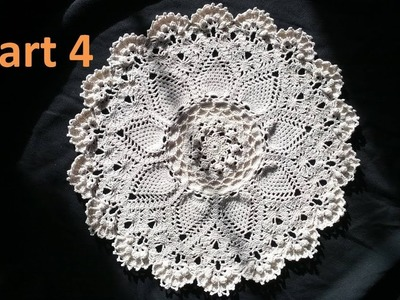 Learn How to Crochet the Advanced Pineapple Cluster Stitch Doily Tutorial -Part 4