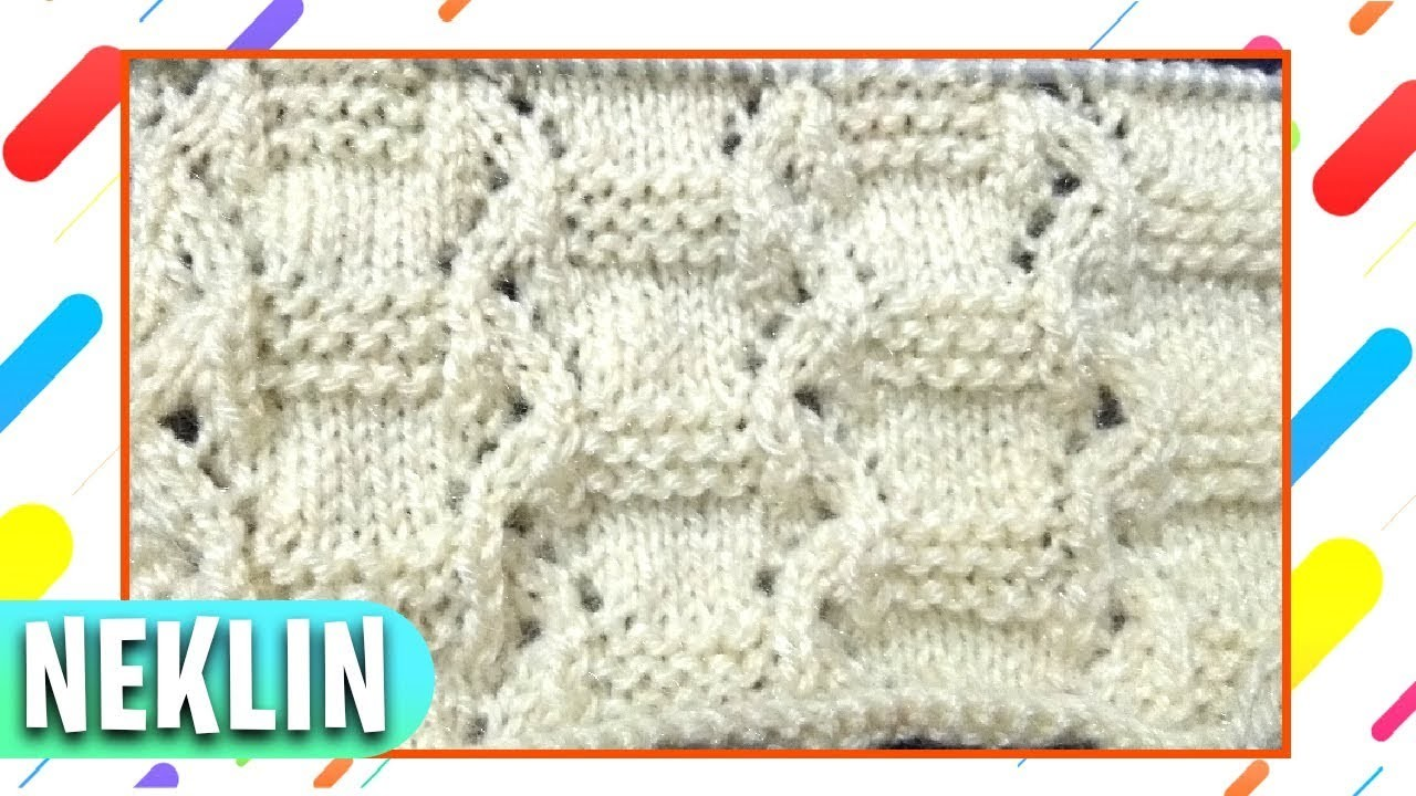 New Knitting Pattern Designs in Hindi || How to Knit in Hindi Tutorial || Neklin Design Tutorial