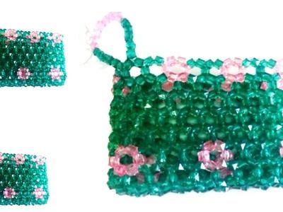 পুতির ব্যাগ.How to make beaded coin purse.beads bag.حقيبة.बैग