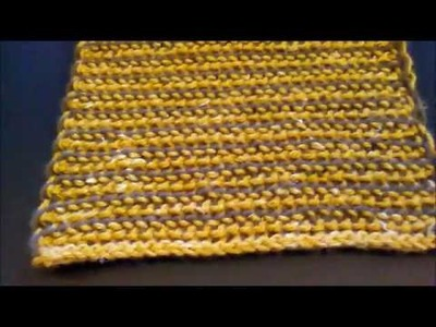 Two-Color Reversible Tunisian Crochet (with a single-ended hook) Video 1 of 3