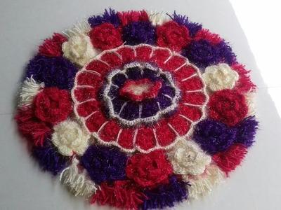 Wool crochet design ! Wool Flowers crochet design